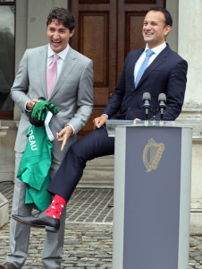 trudeau-ireland-socks