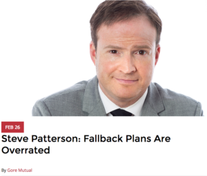 Steve Patterson: Fallback Plans Are Overrated 1