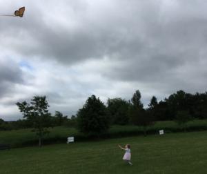 Scarlett flying Kite